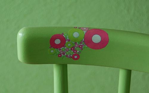 Detail Rückenlehne - Decoupage