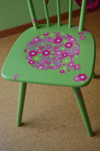 Detail Sitzfläche - Decoupage